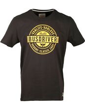 Herren T-Shirt VW Bulli »BUSDRIVER« Schwarz Old Orange