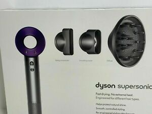 Dyson Supersonic Hair Dryer in Purple Nickel w/ Attachments Brand New
