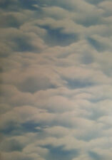 Classic Brewster Wallcovering  Blue Cloudy Sky  Wallpaper Made In Canada( item#7
