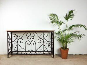 Vintage Reclaimed Iron and Wood Console Table MILL-790