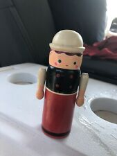 Shackman Vintage Wooden Hand Painted Pencil Box Doll