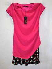 Unbranded Pink Short Sleeve Drape Dress Size XS BNWT #SY64