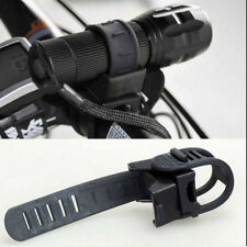 LED Flashlight Torch 360 Degree Bicycle Bike Cycling Mount Holder Clip Clamp $m