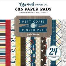 Echo Park ~ PETTICOATS & PINSTRIPES BOY ~ 6x6 Paper Pad 24 pcs