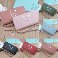 Women Lady Clutch Leather Wallet Long Card Holder Phone Case Purse Handbag Hot