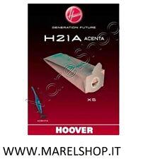 5 SACCHETTI SACCHI ASPIRAPOLVERE ORIGINALI HOOVER ACENTA H21A SCOPA ELETTRICA