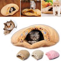 Mini Pet Cat Dog Soft Nest Bed Puppy Warm Soft Cave House Sleeping Bag Mat Pad