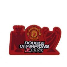 Manchester United Fc Man Utd Badge Double Champions Football Team Club New