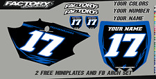Yamaha TTR 50 06-15 Pre Printed Number plate Backgrounds BOLT SERIES