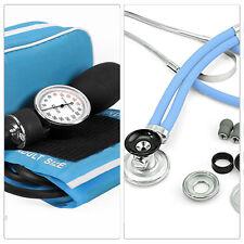 QUALITY Stethoscope + Sphygmomanometer LIGHT BLUE