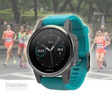 GARMIN Fenix 5S Watch Silver Turquoise Band GPS HRM Sports Running Triathlon