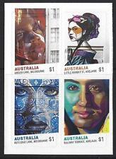 AUSTRALIA 2017 STREET ART SET OF 4 SELF ADHESIVE EX BOOKLET UNMOUNTED MINT, MNH