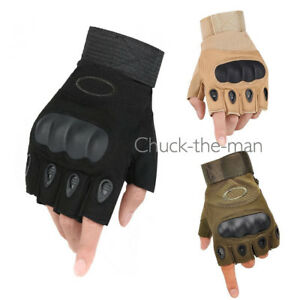 Tactical Fingerless Motorcycle Hard Knuckle Half Finger Glove Paint BallSpecific