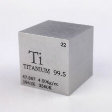 1 inch 25.4mm Titanium Metal Cube 73g 99.5% Engraved Periodic Table of Elements