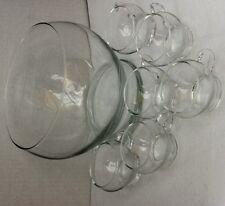 Bowleservice Bowle Schale Bowleset Gläser Glasschale Komplet