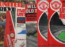 First Division Home Team Manchester United Football Programmes