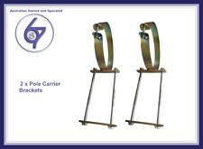 Caravan Pole Carrier Brackets for 10cm 100mm Storage Tube Holder Bracket Pair