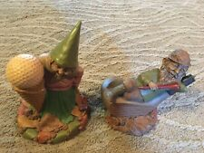 2 1987/88 Tom Clark Cairn Studio Golf Gnomes 5054 Babe and 5007 Mulligan