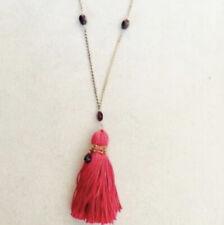 Red Garnet Tassel Necklace by Satya Jewelry.  X53