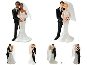 Wedding Cake Toppers Bride and Groom Cake Decoration Couples In Tender Embrace