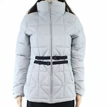 The North Face Womens Mera Peak Jacket Silver Small S Belted Puffer 765