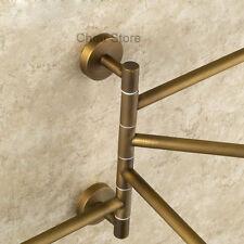Wall Mount Antique Brass Towel Holder Swivel Bars Bathroom Hardware Rack Hanger