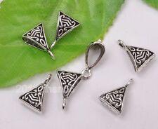 20pcs Tibetan silver charm triangle beads pendant bails Connectors 15mm B3115