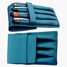 Genuine leather fountain Pen case 4 individual pockets Turkish green - Mark II