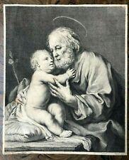 (stampe) Amigoni J.-Wagner J. San Giuseppe e Gesù Bambino. 1740