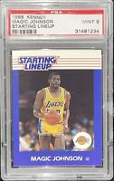 💎1988 Magic Johnson KENNER STARTING LINEUP #36 PSA 9🔥  Low Pop! fleer BGS