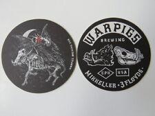 Beer Coaster ~ WARPIG Brewing of Chicago =  3 Floyds & Mikkeller Collaboration