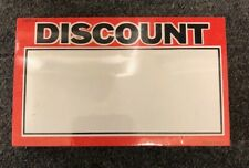 100 Lot Retail Store Discount Price Display Case Shelf Signs Tags