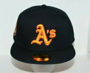 OAKLAND ATHLETICS 50TH ANNIVERSARY EXCLUSIVE NEW ERA FITTED HAT - SIZE 7 3/8