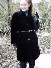 Vintage 80 S Authentique 50 S provoqua GIL BRET velours noir manteau TAILLE 10/12 Comme neuf SUPERBE!