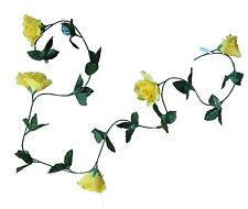 Lot of 24 Yellow Rose 5' Garland Vine Wedding Bridal Home Decor Craft Flower