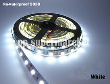 5M Smd 5050 White No-Waterproof 300 Led Flexible Tape Strip Light Dc12V