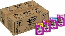 84 x 100g Whiskas 7+ Senior Cat Pouches in Jelly Food Chicken Turkey Tuna Salmon