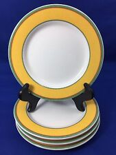 """Villeroy & Boch TIPO VIVA YELLOW 6 3/8"""" Bread Plates SET OF 4 Luxembourg Set B"""