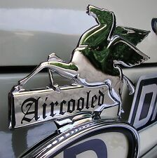 CHROME Pegasus AIRCOOLED Licence Topper Mobil for VW volkswagen Porsche AAC163