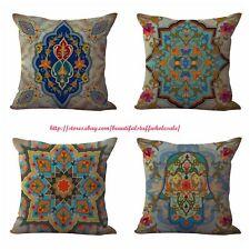 US SELLER-4pcs cushion covers boho retro home decoration cover throw pillows