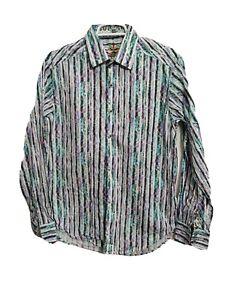 Robert Graham Men SMALL Button-up Long Sleeve Dress Formal Shirt Long Sleeve(n8