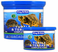 KING BRITISH TURTLE & TERRAPIN COMPLETE FOOD PELLETS SHRIMPS KRILL AQUARIUM FISH