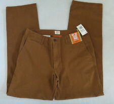 "NWT $58 D2 STRAIGHT FIT  DOCKERS ""OFF THE CLOCK KHAKI"" PANTS-BROWN-33X32"