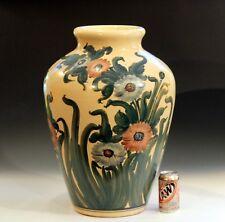 """Huge RRP CO Robinson Ransbottom Roseville Dedonatis Rare Pottery Floor Vase 23"""""""