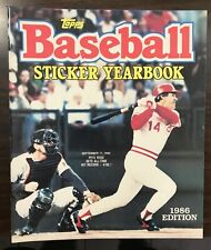1986 Topps Baseball Sticker Yearbook Pete Rose No Stickers