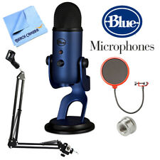 BLUE MICROPHONES Yeti USB Microphone Midnight Blue w/ Accessories Bundle
