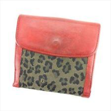 Fendi Wallet Purse Folding wallet Beige Black Woman Authentic Used T6276