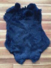 1x NAVY Rabbit Skin Real Fur Pelt for animal training, crafts, fly tying, LARP,