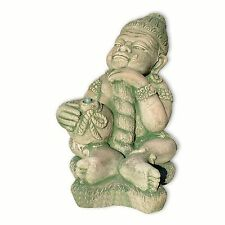 Thai sitting guardian, fountain,  made in Thailand, green tones (10233)