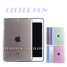 iPad Air 1 Hülle Tasche Case klar transparent Silikon Rückcover Für Air1 Schwarz